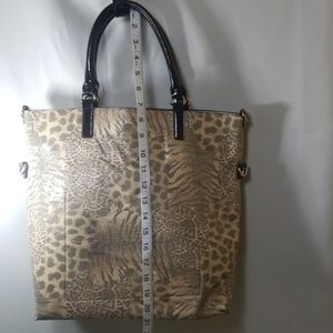 Sharif Animal Print Tote